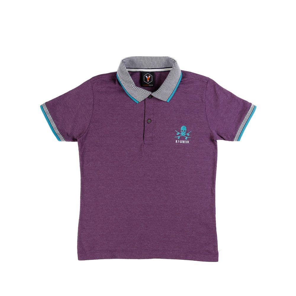 Camisa Polo Juvenil Para Menino - Roxo - Lojas Pompeia f637376934c1e