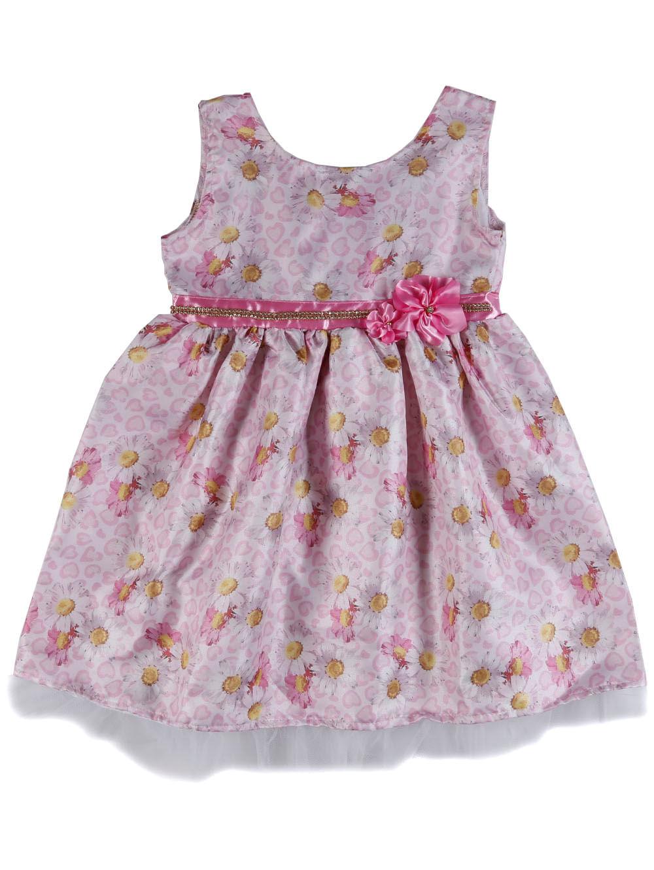 a628b44b21486e Vestido Infantil Para Menina - Bege/rosa