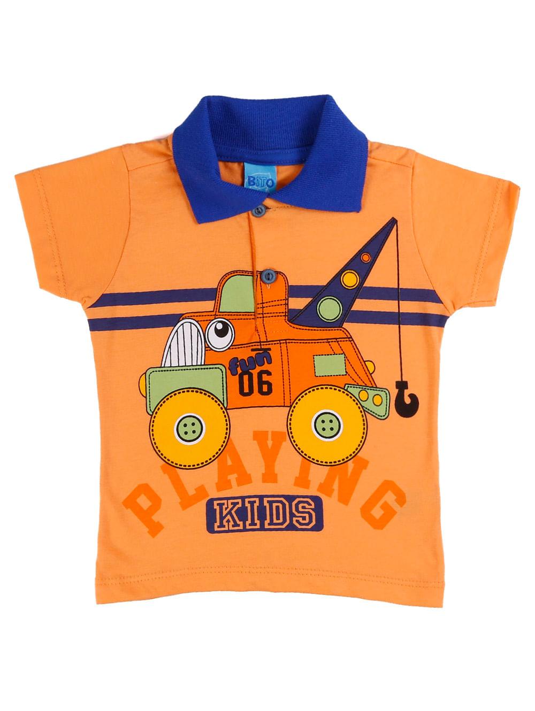 0f6ed9b2539 Camisa Polo Infantil Para Bebê Menino - Laranja - Lojas Pompeia