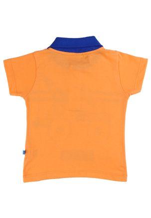 Camisa-Polo-Infantil-Para-Bebe-Menino---Laranja-M