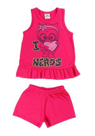 Pijama-Infantil-Para-Menina---Rosa-1
