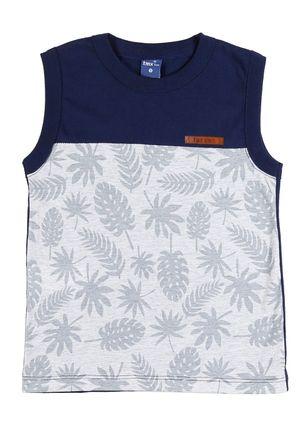 Camiseta-Regata-Infantil-Para-Menino---Cinza-azul-marinho-1