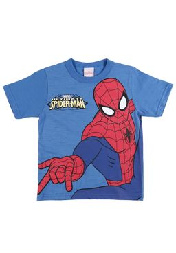 Camiseta-Manga-Curta-Spider-Man-Infantil-Para-Menino---Azul-6