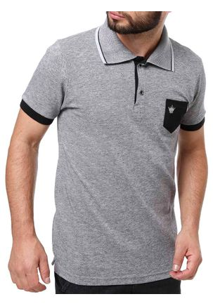 Polo-Manga-Curta-Masculina-Local-Cinza