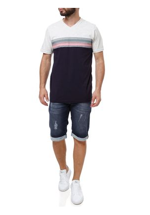 Camiseta-Manga-Curta-Masculina-Cinza-azul