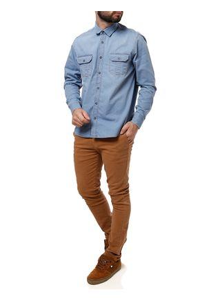Camisa-Manga-Longa-Jeans-Masculina-Azul-claro-P