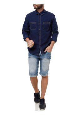 Camisa-Manga-Longa-Jeans-Masculina-Eletron-Azul