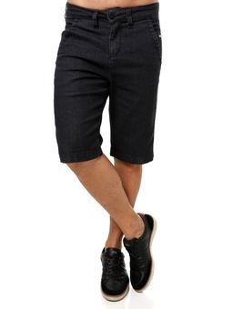Bermuda-Jeans-Masculina-Preto-