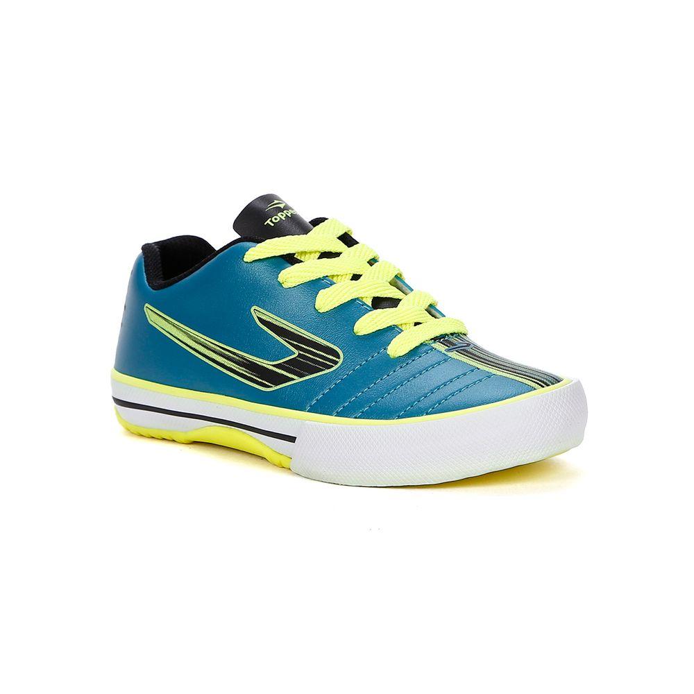 Tênis Futsal Topper Recreio II Infantil para Menino - Azul preto amarelo -  Lojas Pompeia 48e584856e8a5