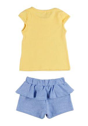 Conjunto-Infantil-Para-Bebe-Menina---Amarelo-P
