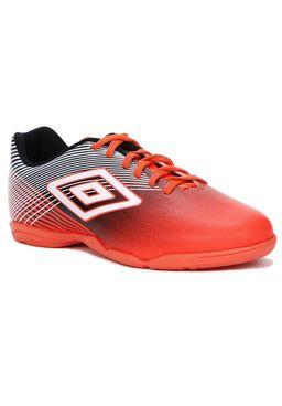Tenis-Futsal-Masculino-Umbro-Coral-preto-branco