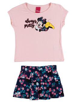 Conjunto-Disney-Infantil-Para-Menina---Rosa-marinho