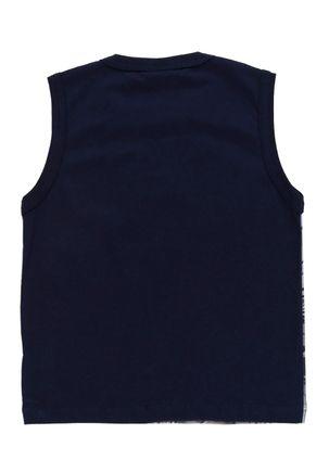 Camiseta-Regata-Batman-Infantil-Para-Menino---Azul-marinho-1