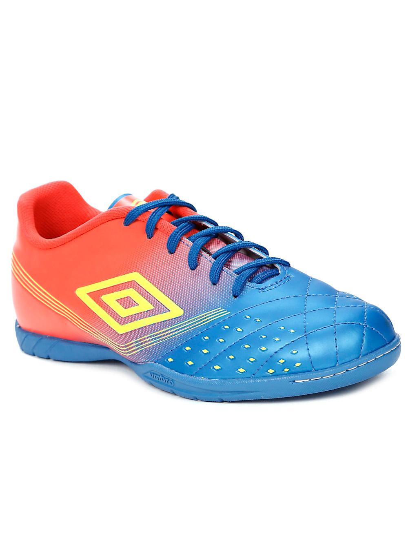 c522a7e26e Tênis Futsal Masculino Umbro Fifty Indoor Verde coral azul - Lojas ...