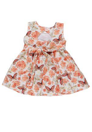 Vestido-Infantil-para-Bebe-Menina-Laranja