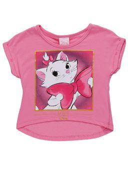 Blusa-Manga-Curta-Disney-Infantil-Para-Menina---Rosa