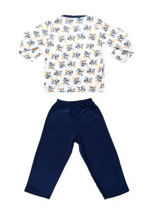 Pijama-Infantil-Para-Menino---Azul-branco-1