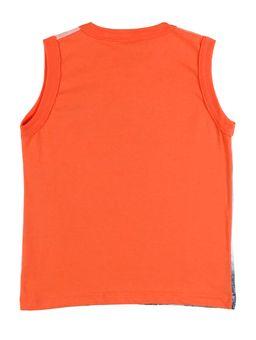 Camiseta-Regata-Infantil-Para-Menino---Laranja-1
