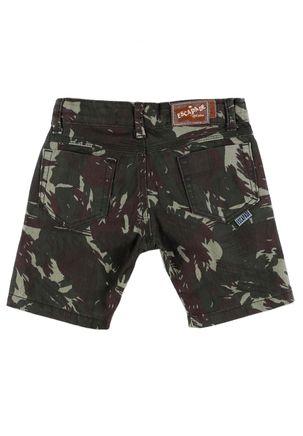 Bermuda-Jeans-Infantil-Para-Menino-Camuflada---Verde-1