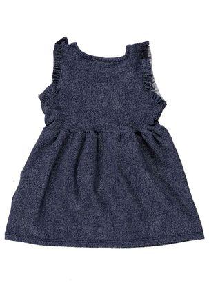 Vestido-Infantil-Para-Bebe-Menina---Azul-marinho-P