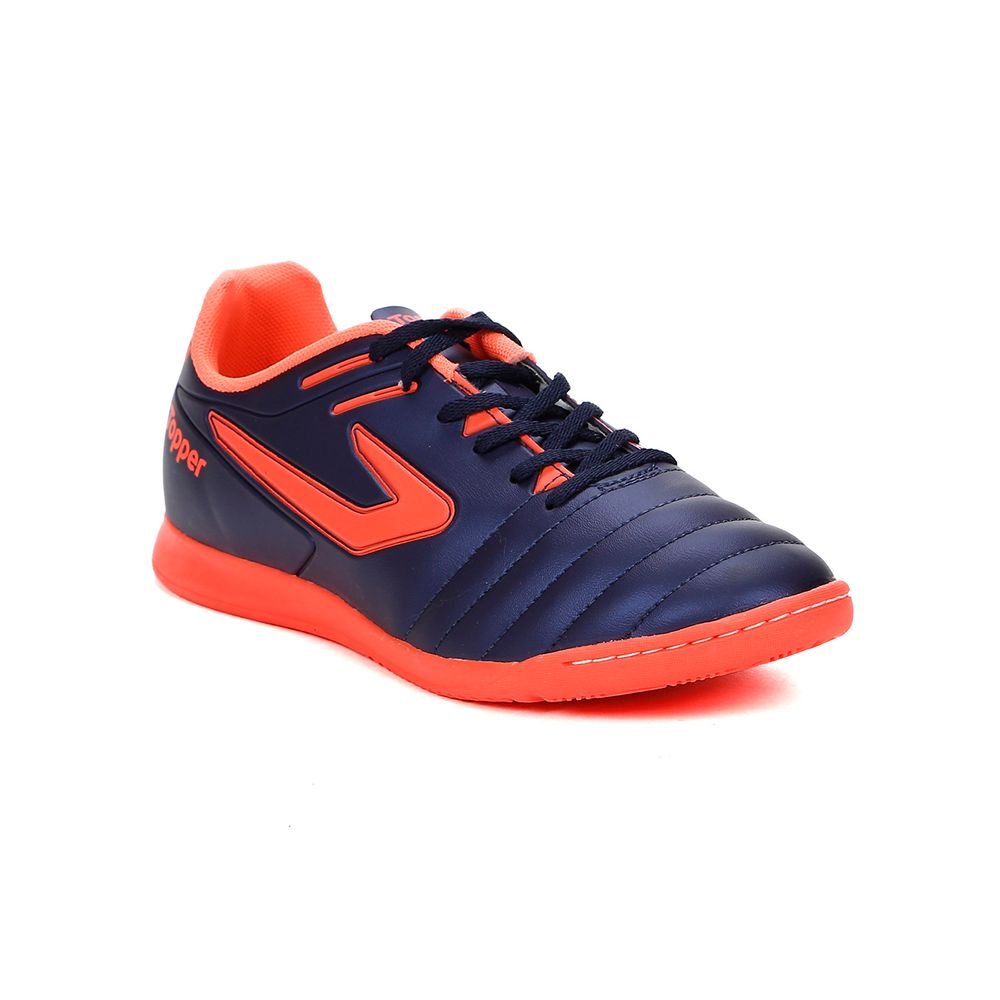 Tênis Futsal Masculino Topper Boleiro Indoor Azul Marinho coral - Lojas  Pompeia feb82972e4c1f