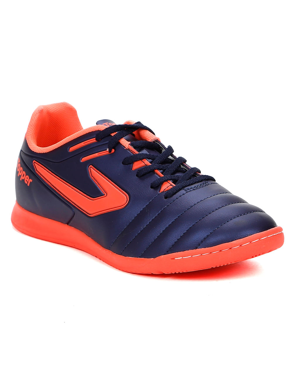 f8e3372cc9b Tênis Futsal Masculino Topper Boleiro Indoor Azul Marinho coral ...