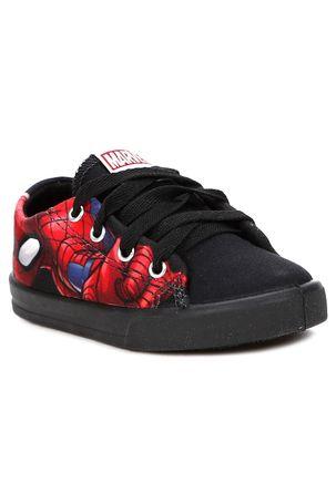 Tenis-Marvel-Homem-Aranha-Infantil-Para-Menino---Preto