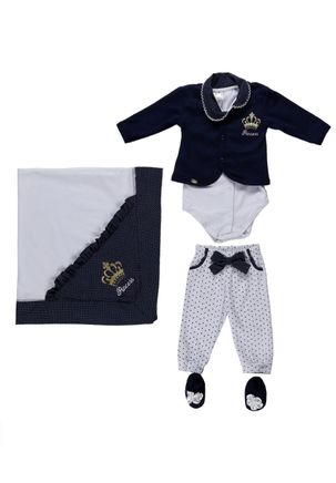 Enxoval-Para-Bebe-Infantil-Para-Menina---Azul-marinho