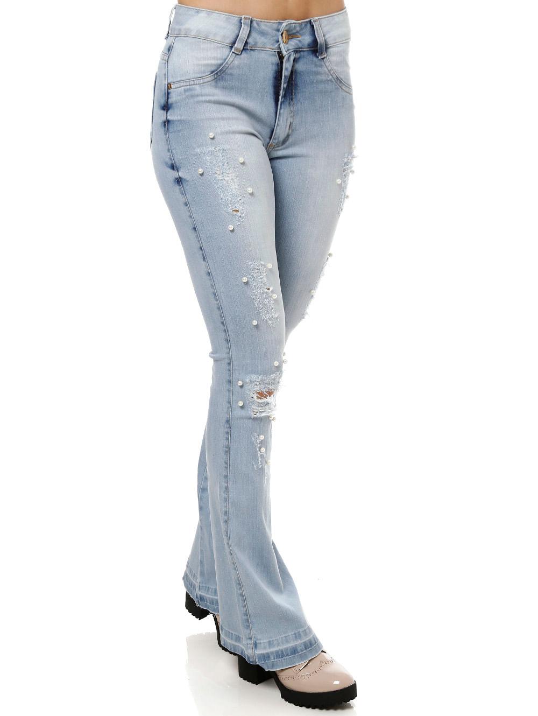 b59579a76 Calça Jeans Feminina Azul - Lojas Pompeia