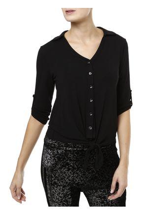 Camisa-Manga-3-4-Feminina-Autentique-Preto