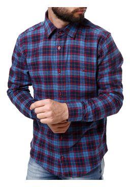 Camisa-Flanela-Manga-Longa-Masculina-Vinho-azul