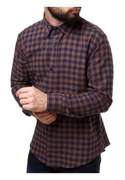Camisa-Flanela-Manga-Longa-Masculina-Bege-azul-P