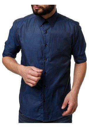 Camisa-Manga-3-4-Masculina-Eletron-Azul-Marinho
