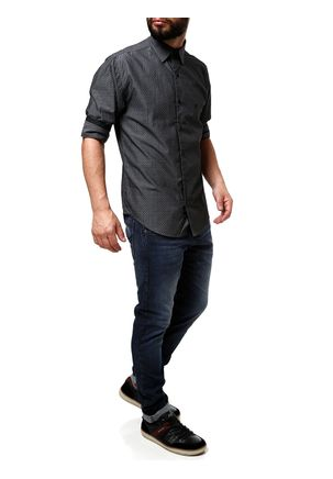 Camisa-Manga-3-4-Masculina-Eletron-Preto