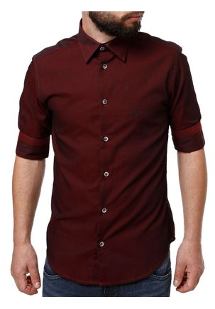 Camisa-3-4-Masculina-Bordo