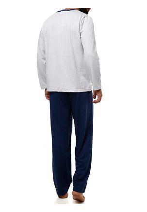 Pijama-Longo-Masculino-Cinza-azul-Marinho