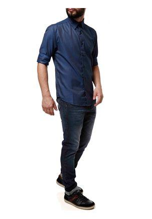 Camisa-Manga-3-4-Masculina-Eletron-Azul-Marinho-P