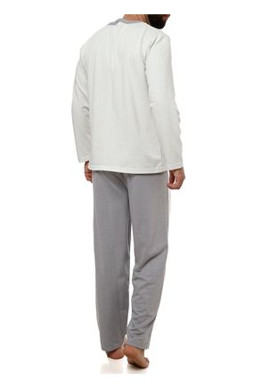 Pijama-Longo-Masculino-Cinza-verde-P