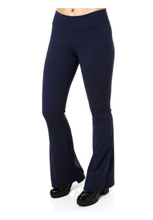 Calca-de-Tecido-Flare-Feminina-Autentique-Azul-Marinho