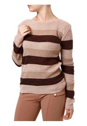 Blusa-de-Tricot-Feminina-Rosa-marrom