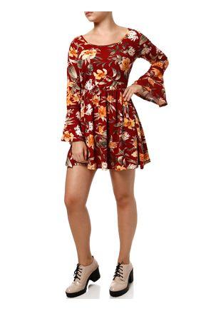 Vestido-Manga-Longa-Feminino-Vermelho