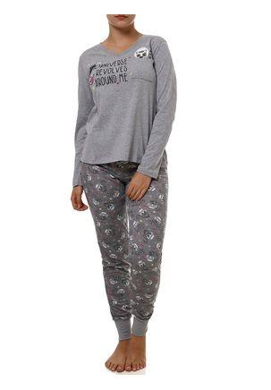Pijama-Feminino-Cinza