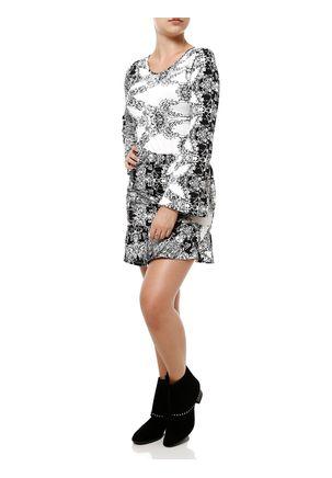 Vestido-Curto-Feminino-Branco-preto