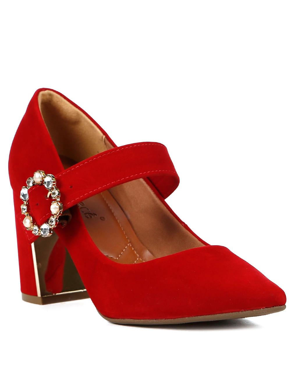 94ca9b359 Sapato de Salto Scarpin Feminino Bebecê Vermelho - Lojas Pompeia