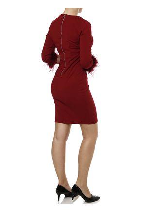 Vestido-Medio-Feminino-Vinho