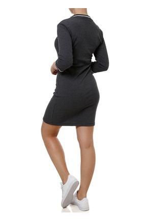 Vestido-Longo-Feminino-Autentique-Cinza-Escuro
