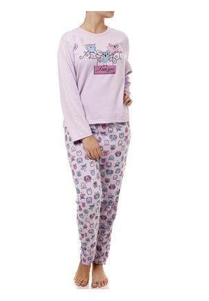 Pijama-Longo-Feminino-Lilas