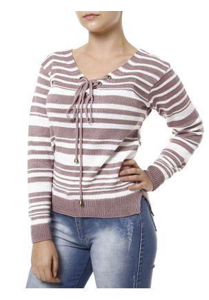Blusa-de-Tricot-Feminina-Branco-lilas