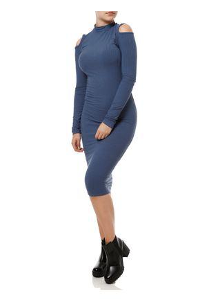 Vestido-Longo-Feminino-Lunender-Azul