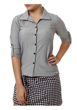 Camisa-Manga-3-4-Feminina-Autentique-Preto-branco